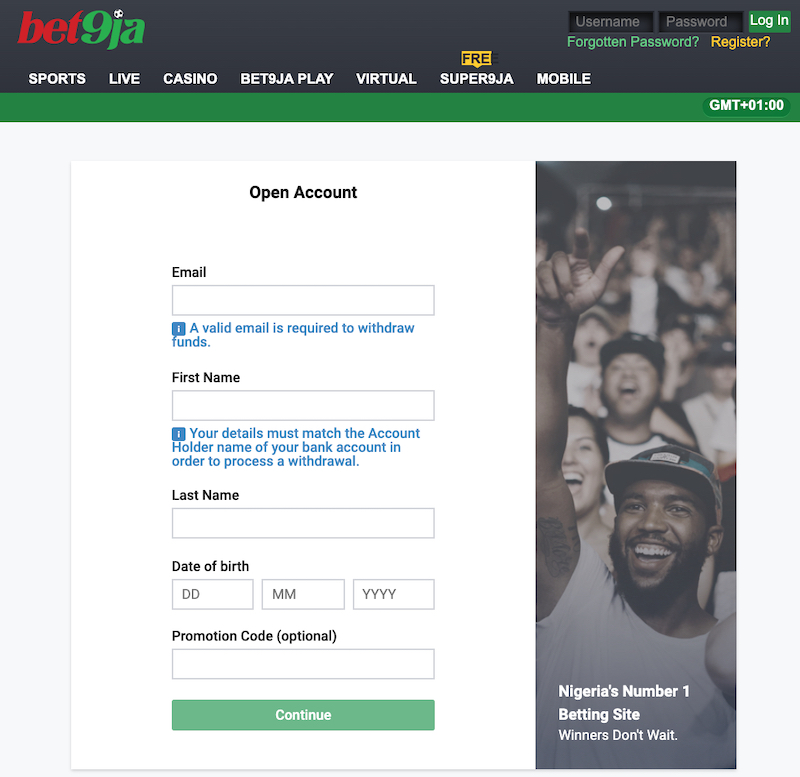 Sign Up on Bet9ja.com – Simple Manual
