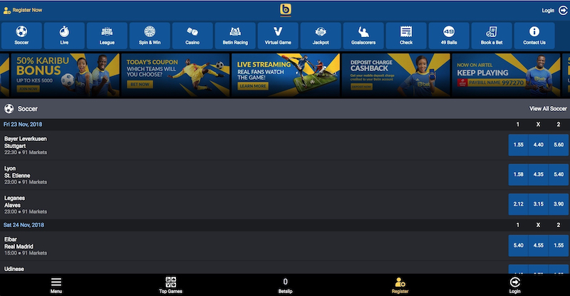 Enter Your Account From Mobile Betin Nigeria