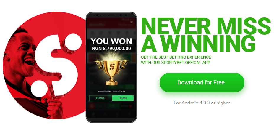 Get the Mobile App By SportyBet Nigeria
